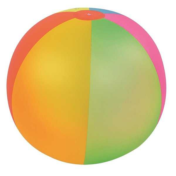39' Classic Inflatable 6-Panel Jumbo Beach Ball Swimming Pool Toy - Multi-colored