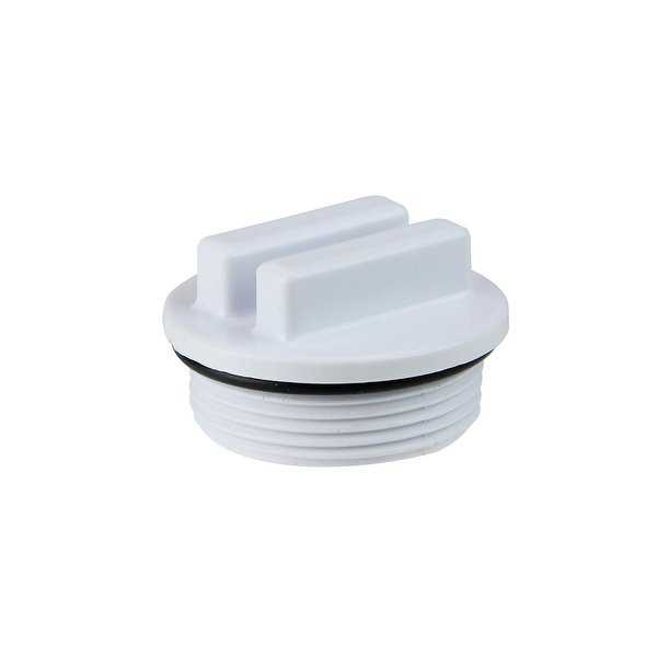 1.5' Threaded Swimming Pool Return Line Winterizing Plug Cap - White