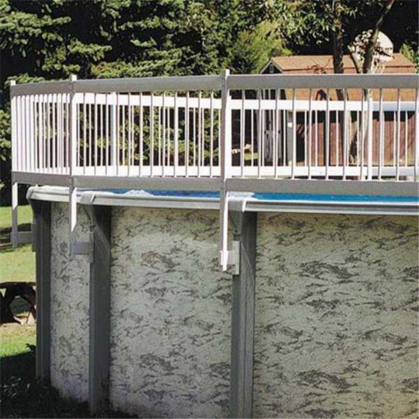 30-BKIT-WHT Protech-A-Pool Above Ground Fence 3 Section Base Kit